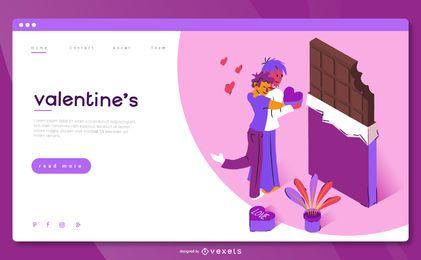 Plantilla de página de aterrizaje de San Valentín