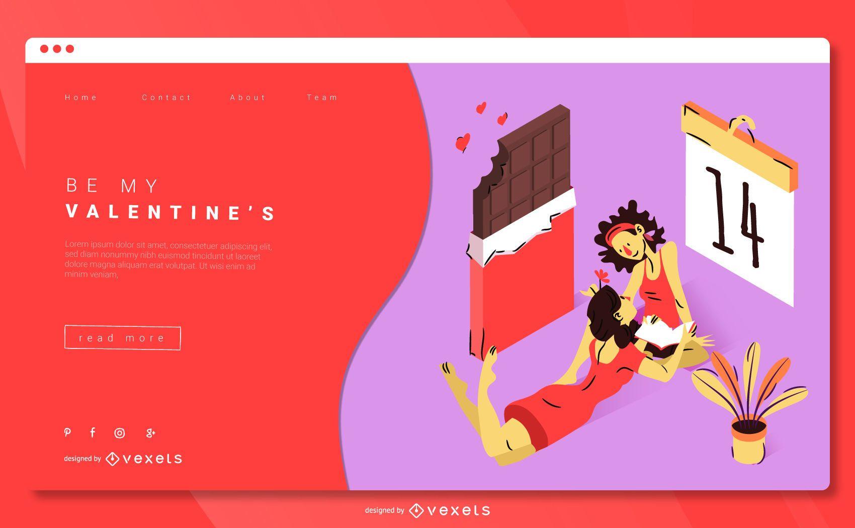 Plantilla web de San Valentín