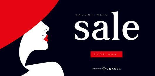 Control deslizante web de venta de San Valentín