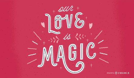 Valentinstag-Beschriftungs-Zitat-Design