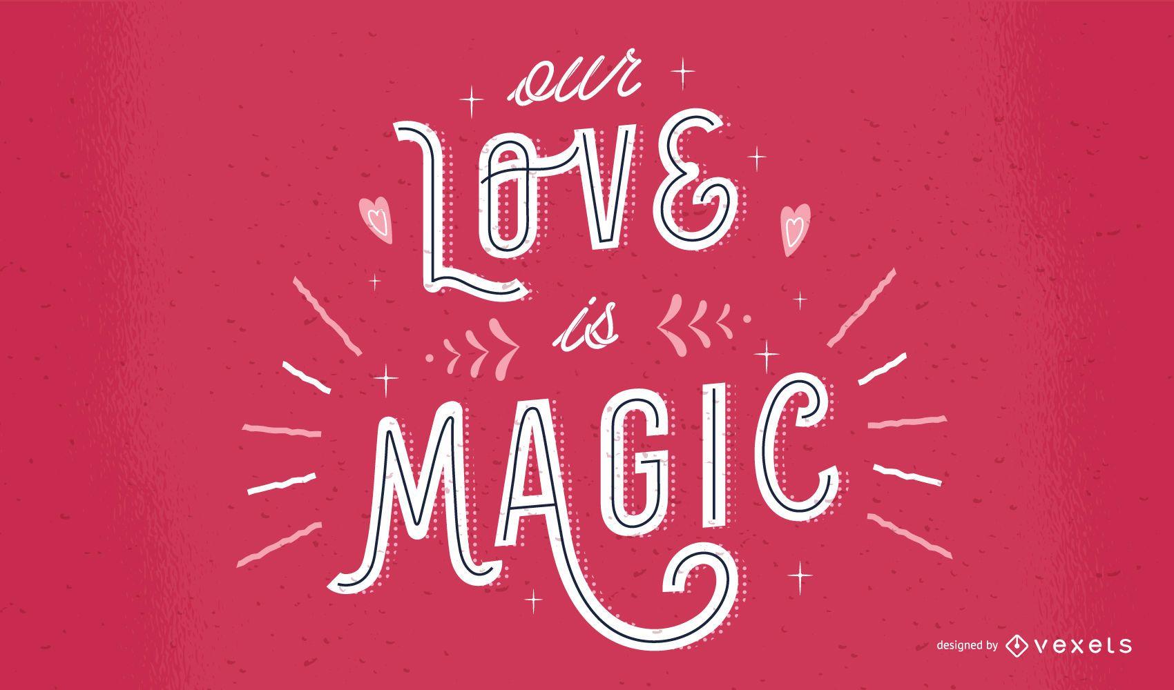 Valentine's Day Lettering Quote Design