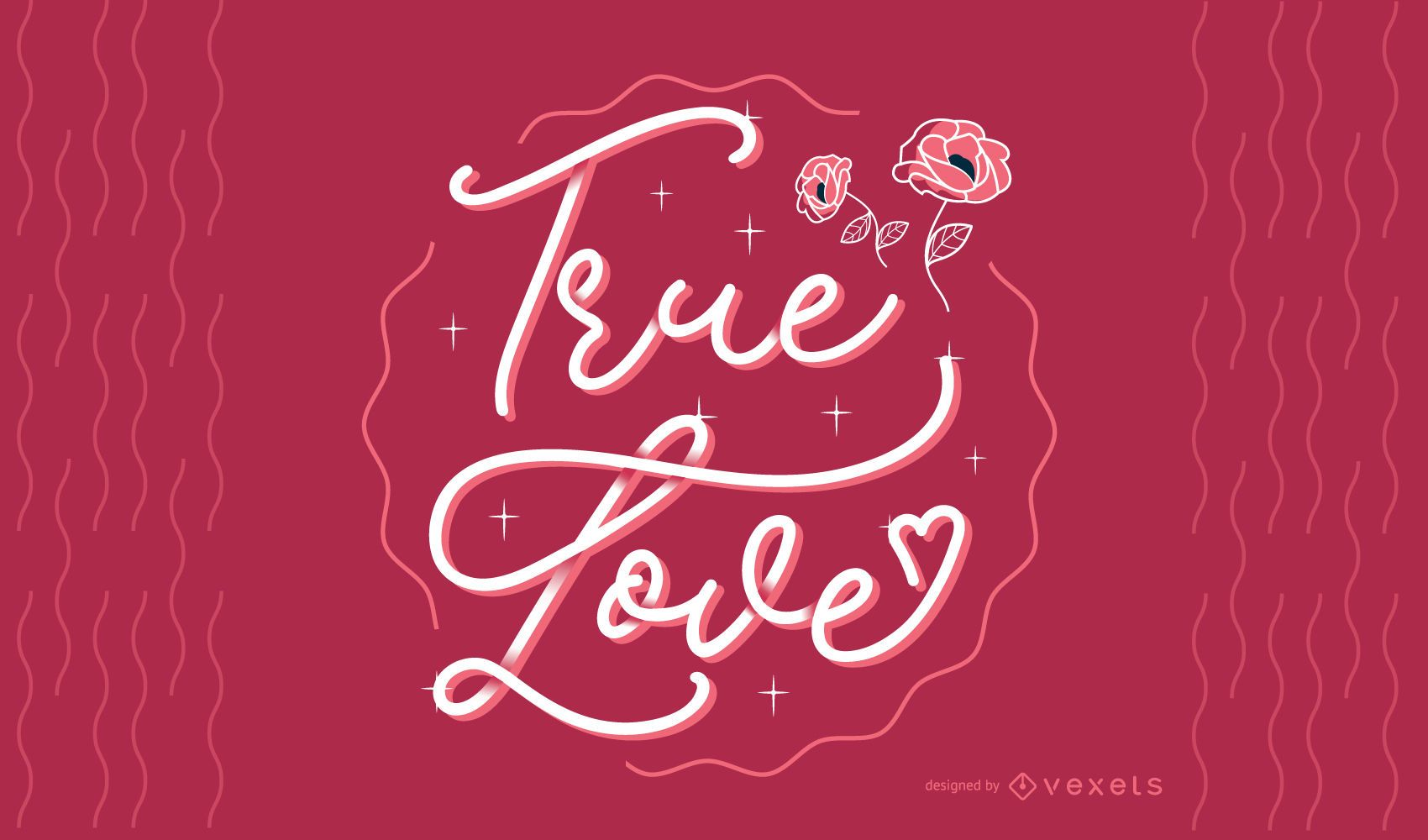 True Love Lettering Design