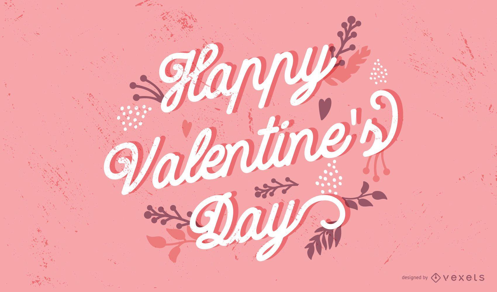 Feliz Dia dos Namorados Design de Letras