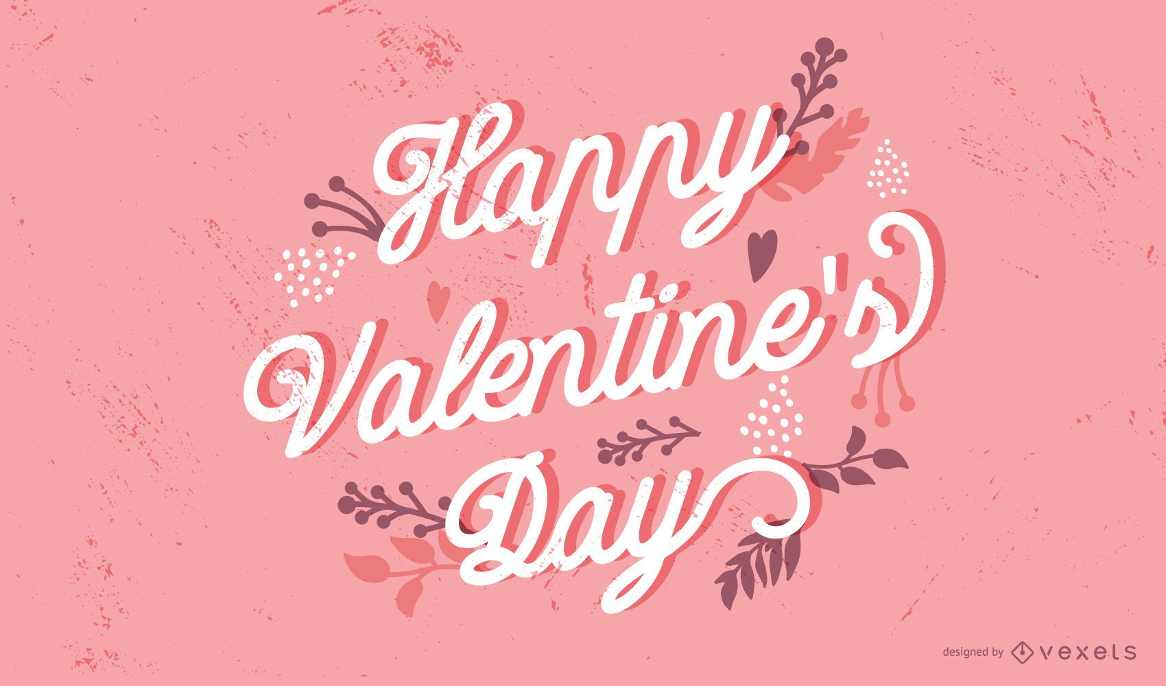 Happy Valentine's Day Lettering Design