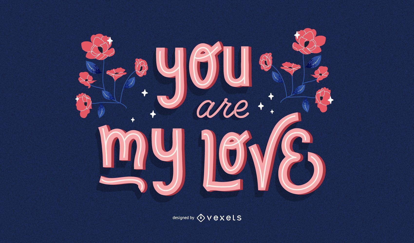 Design de citações de meu amor