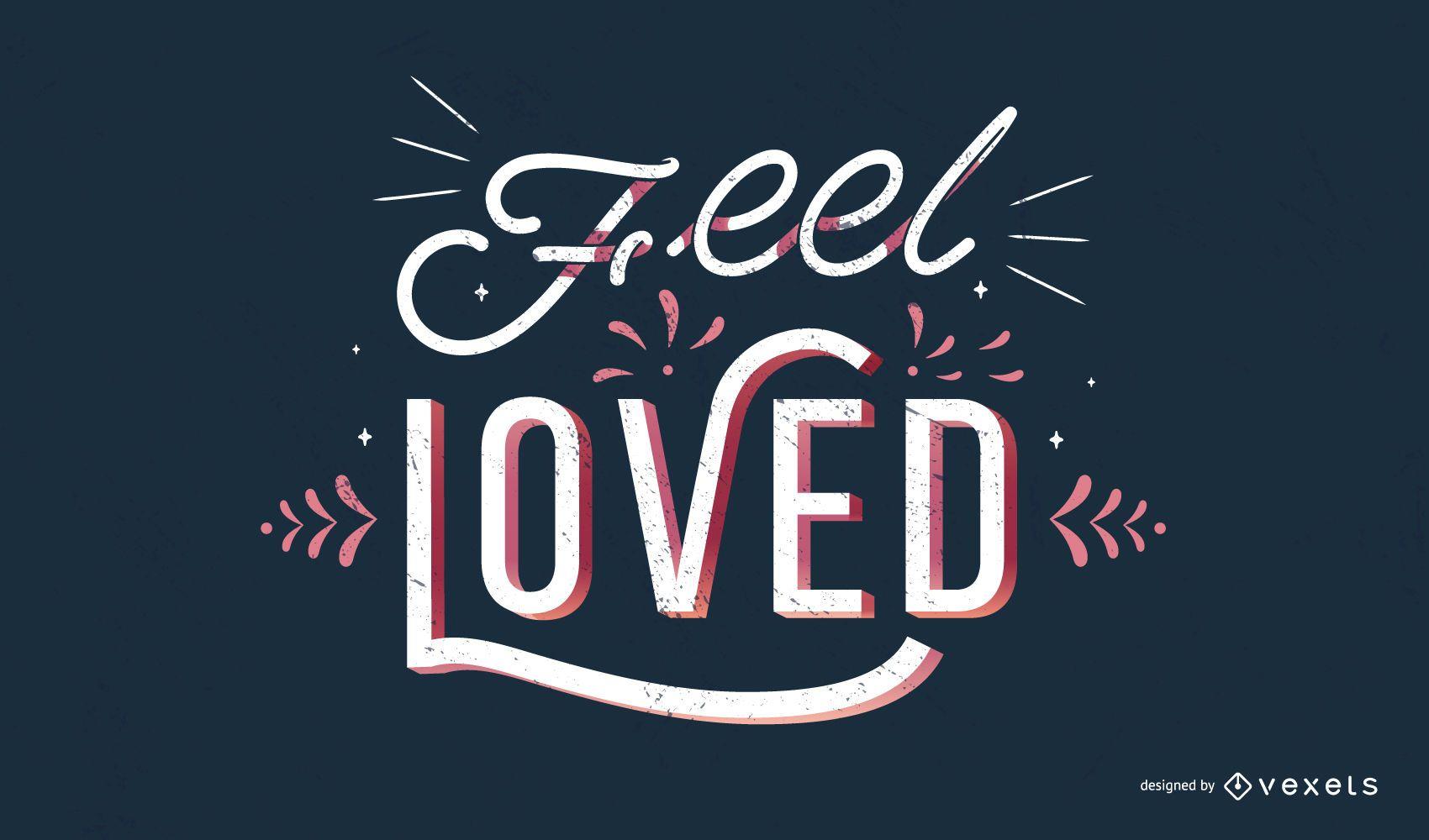 Design de cotação de sentimento amado