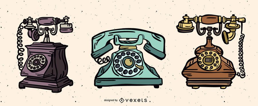 Vintage Telephone Illustration Pack