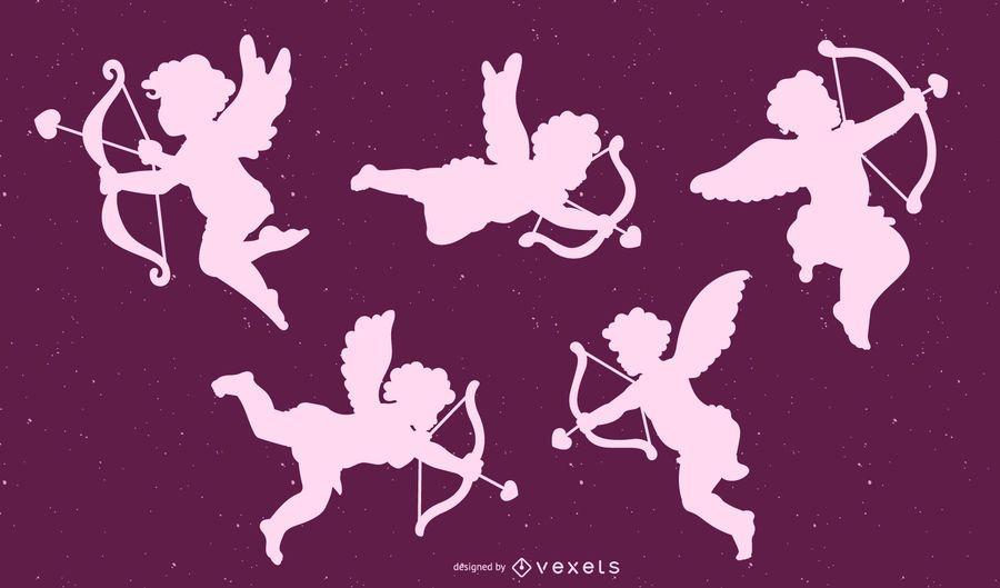 Cupid Silhouette Design Set
