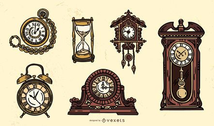 Antique Clock Design Set