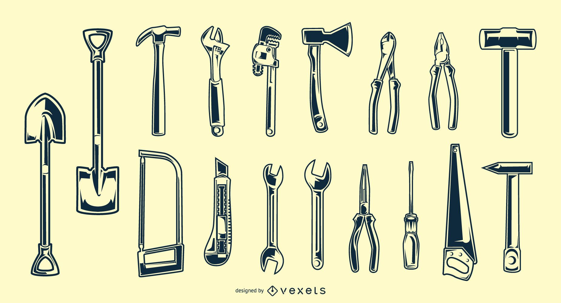 Hand Tool Silhouette Pack