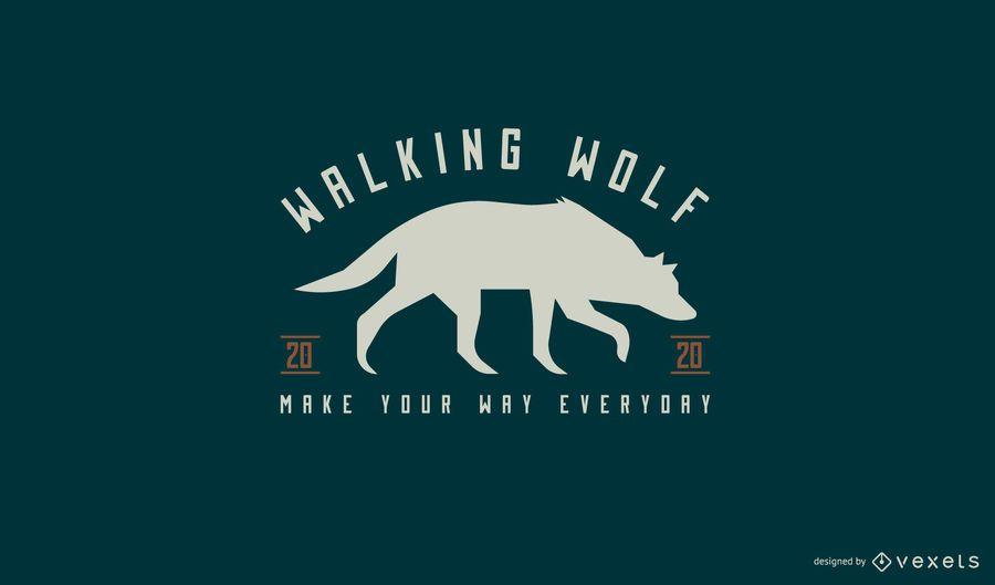 Design de logotipo animal lobo