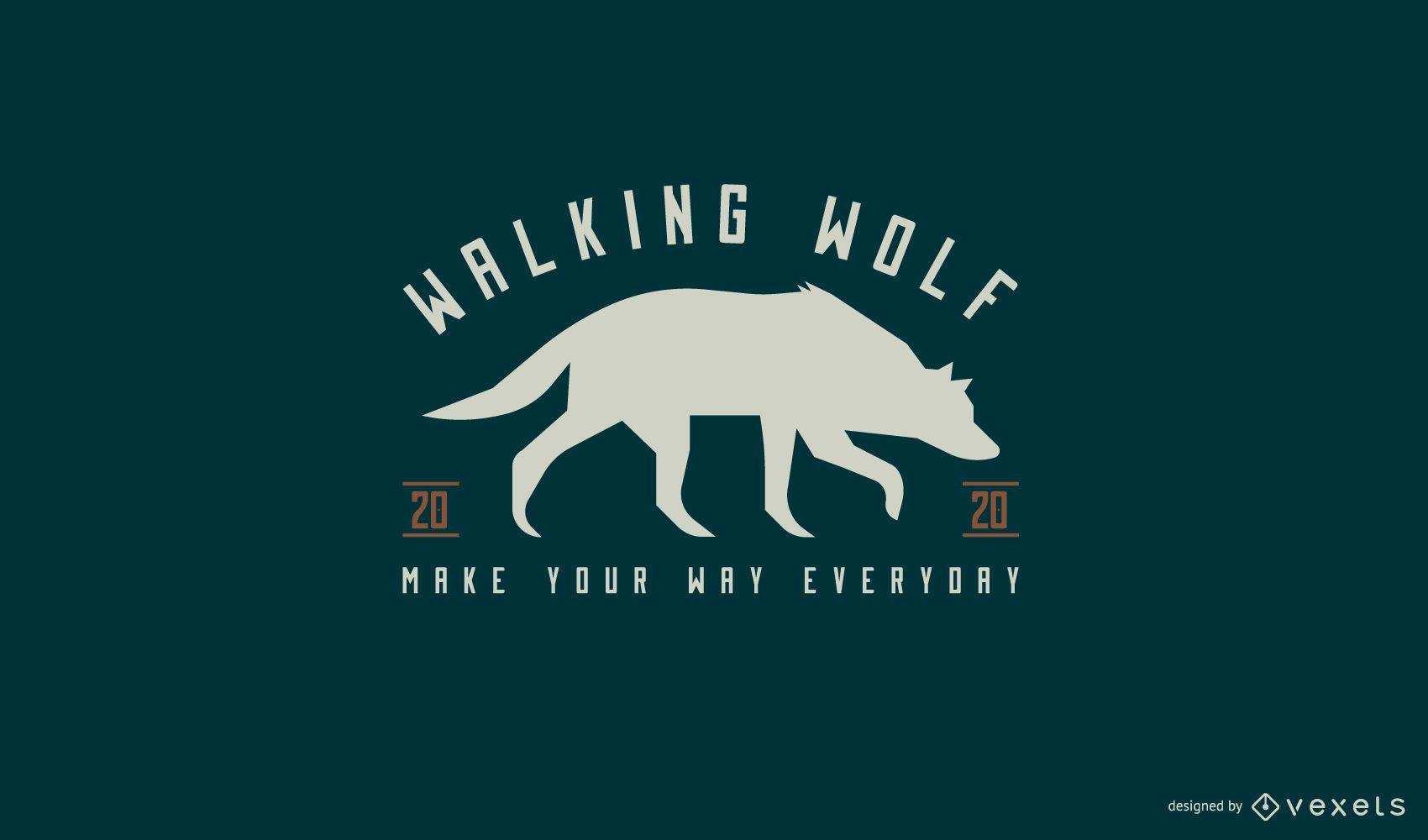 Diseño de logotipo animal lobo