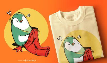 Diseño de camiseta de pantalones de pingüino