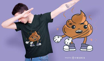 Diseño de camiseta de poop floss