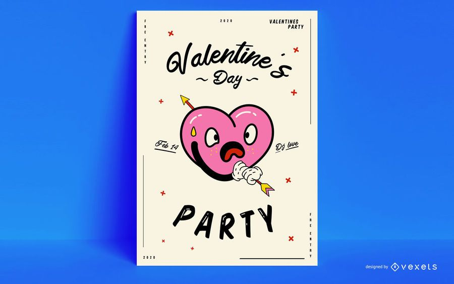 Valentine's day party poster design