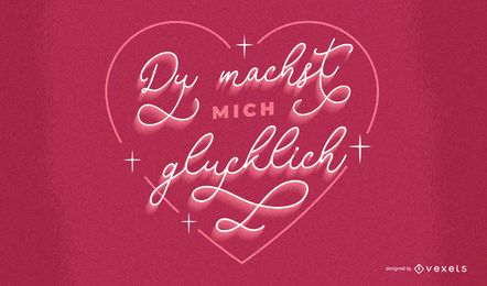 Valentine's day german lettering