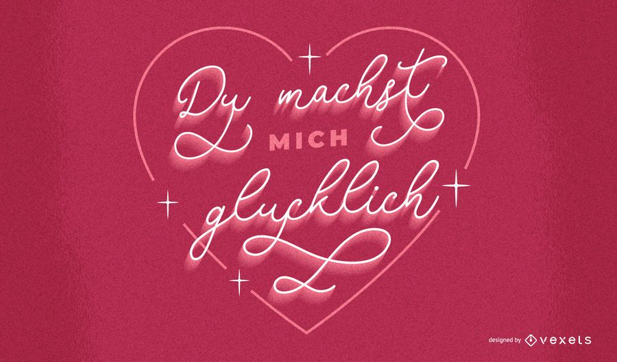 Valentine's day german lettering