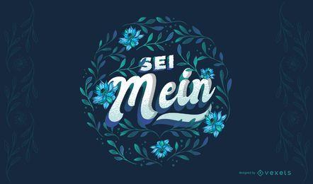 Sei mein german valentine's lettering