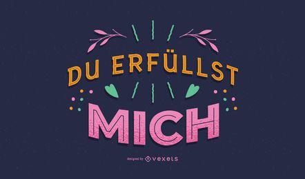 Design de letras alemãs dos namorados