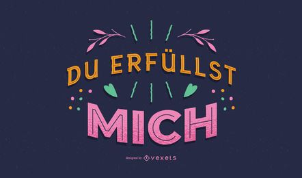 Valentine deutsche Briefgestaltung