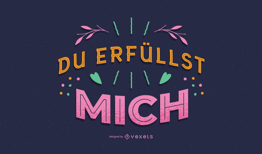 Valentine german lettering design