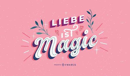 Diseño de letras alemanas del día de San Valentín