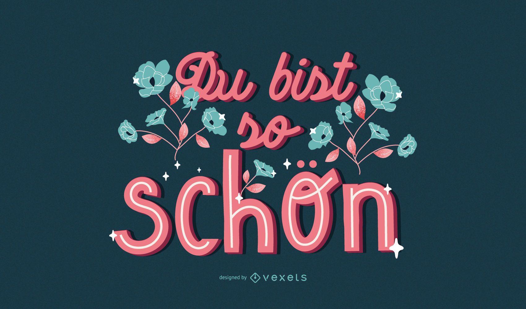 Diseño de letras de San Valentín alemán