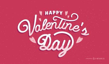 Alles Gute zum Valentinstag Schriftzug