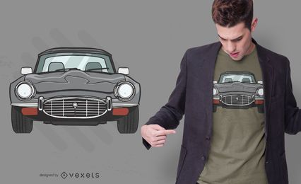 Coupe car t-shirt design