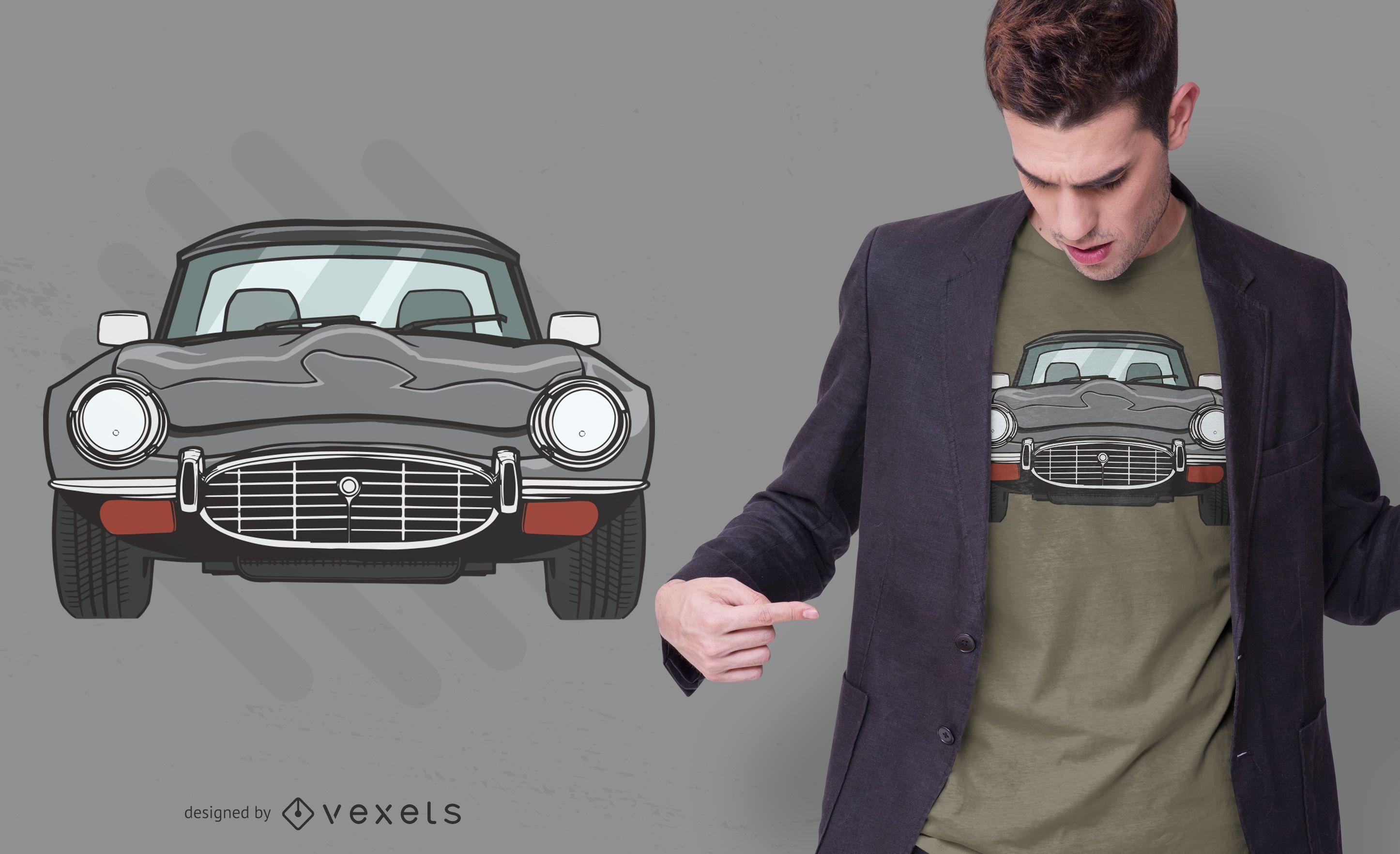 Design de t-shirt de carro cupê