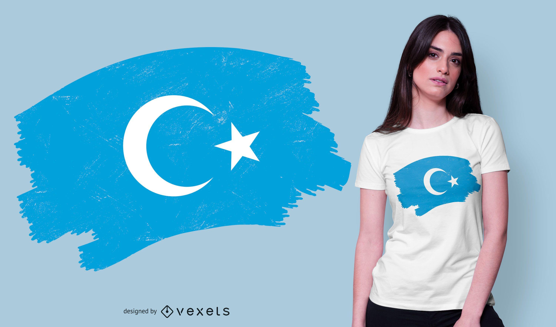 Diseño de camiseta de bandera uigur