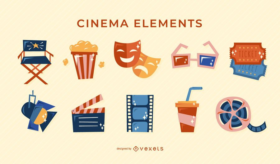 Elementos retrô de cinema