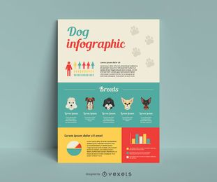 Dog breed infographic template