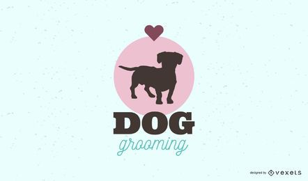 Dog grooming logo template