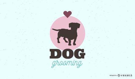 Modelo de logotipo de preparação de cães