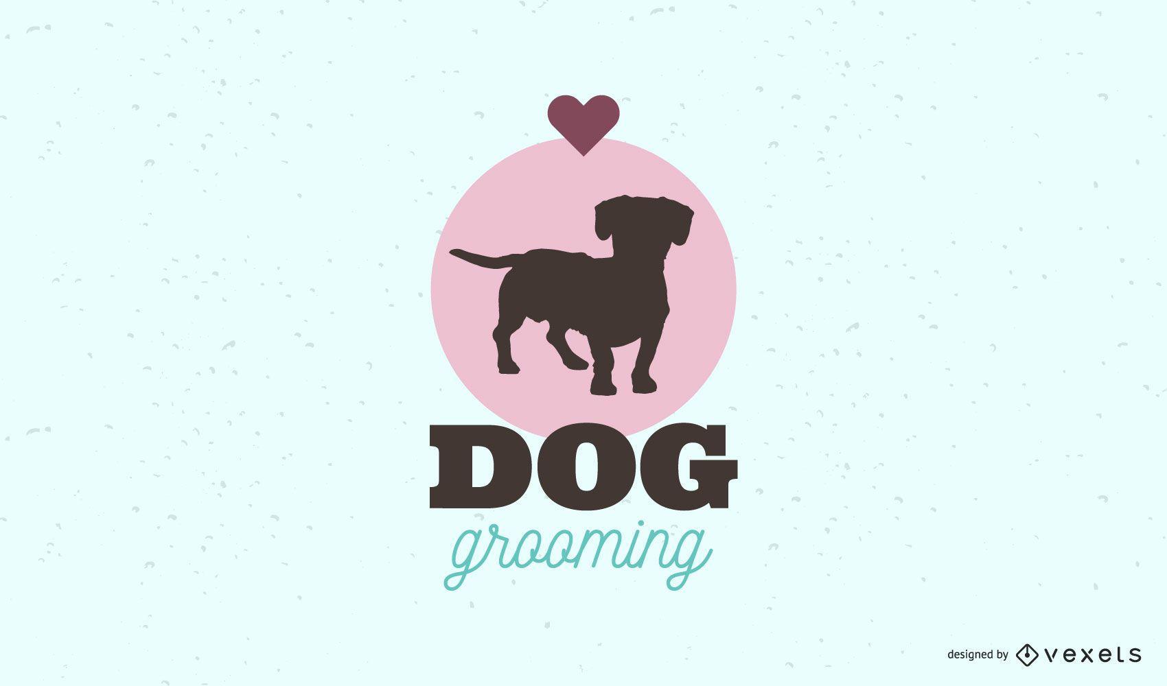 Modelo de logotipo de cuidados com cães