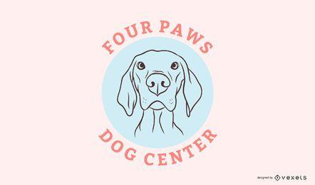 Modelo de logotipo de centro de cachorro