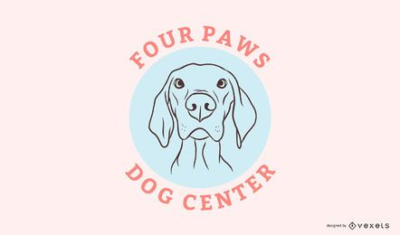 Modelo de logotipo do Dog Center