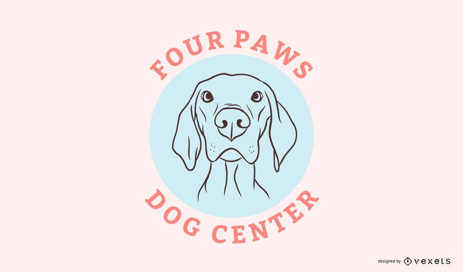 Dog center logo template