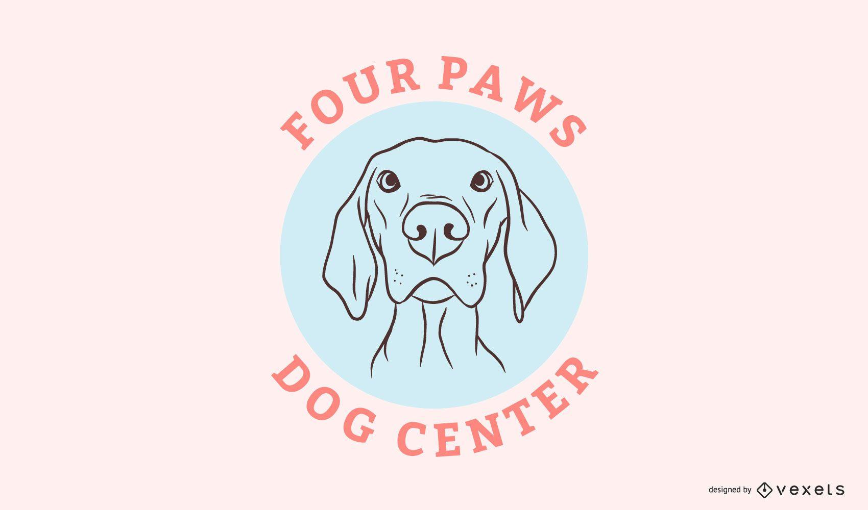 Plantilla de logotipo de centro de perros
