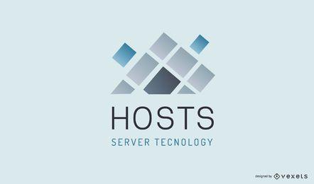 Empresa de Hosting Diseño de Logotipo Comercial