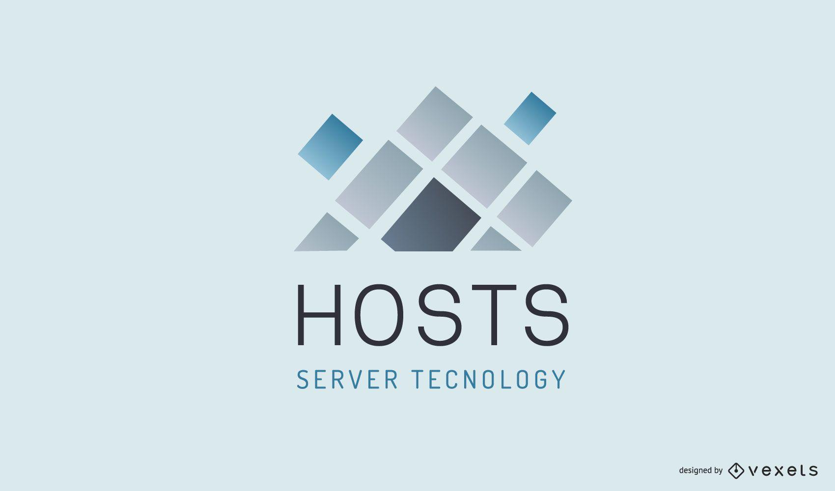 Design de logotipo de empresa de hospedagem
