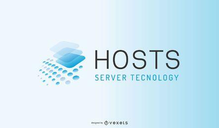 Design de logotipo comercial de servidor
