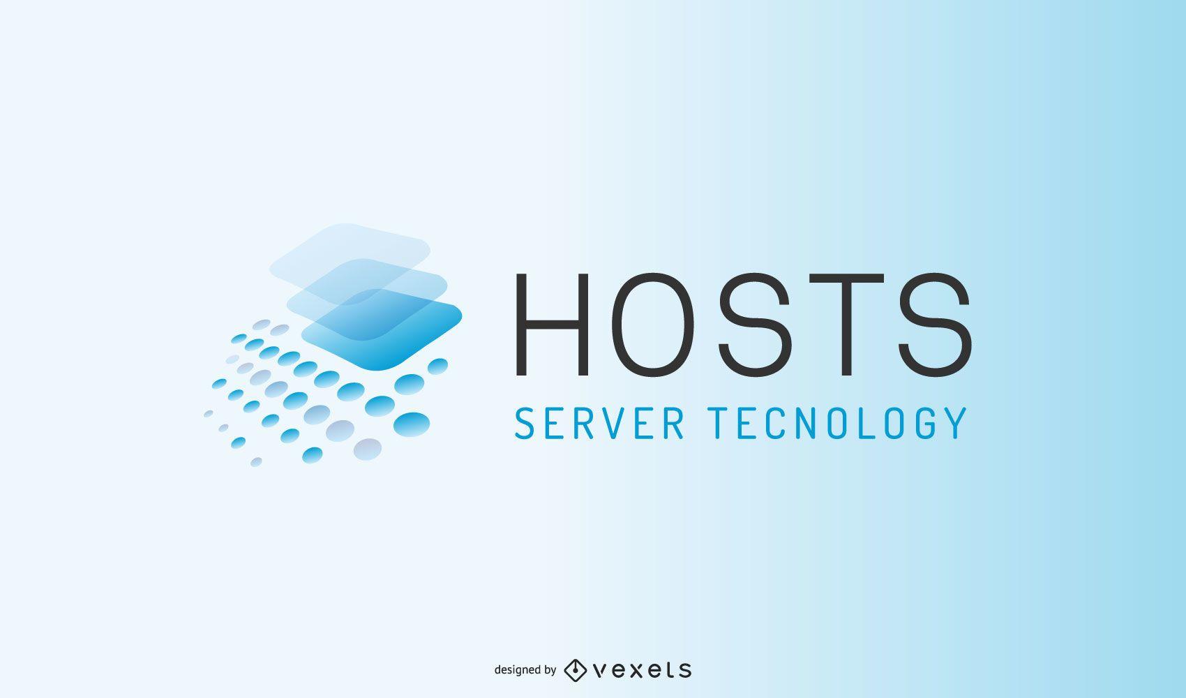 Diseño de logotipo de empresa de servidor
