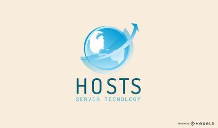 Design de logotipo de serviços de hospedagem