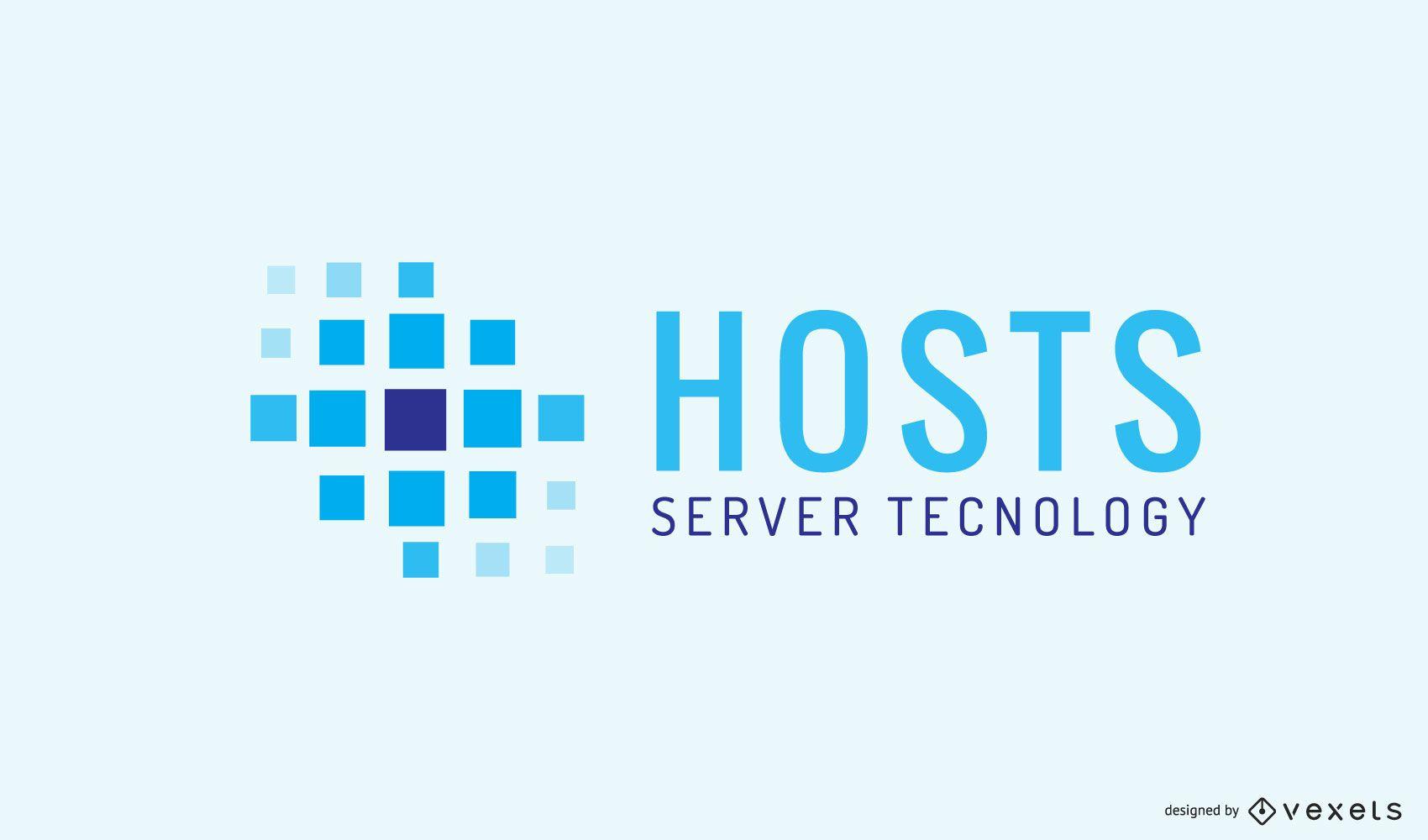 Logo-Design der Hosting-Firma