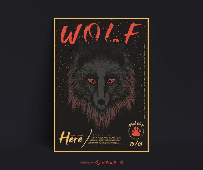 Wolf Illustration Plakatgestaltung