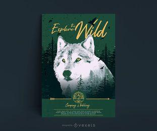 Explore o design de pôster da natureza selvagem