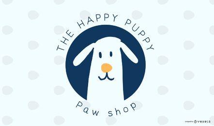 Design de logotipo de cão de loja de animais