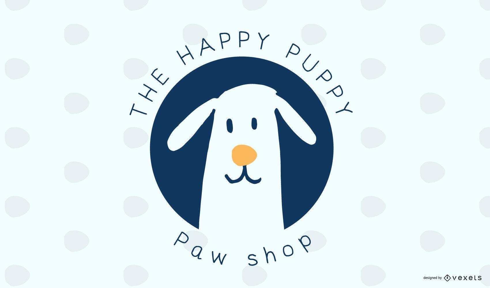 Design de logotipo para cães de pet shop